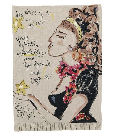 Loving this 'Diva' Kitchen Towel - Set of Two on #zulily! #zulilyfinds