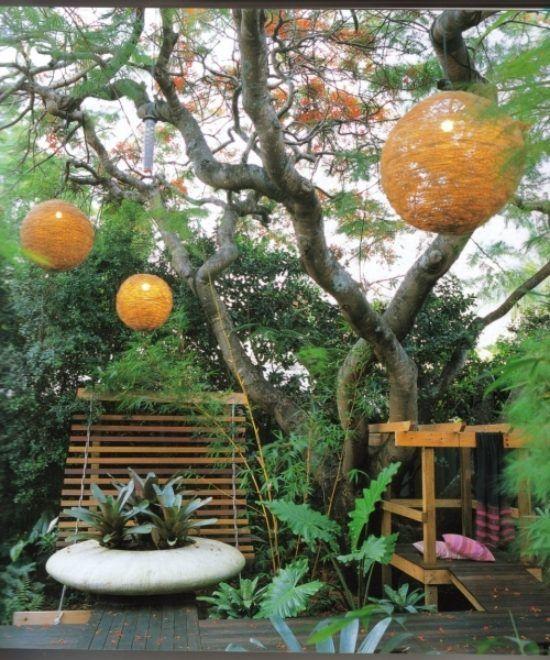 ideen für kleinen garten wenig platz orenge deko Garten - gartengestaltung beispiele kleine garten