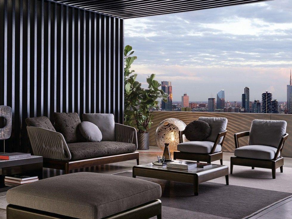 italian furniture brands - minotti new project for outdoor, Möbel