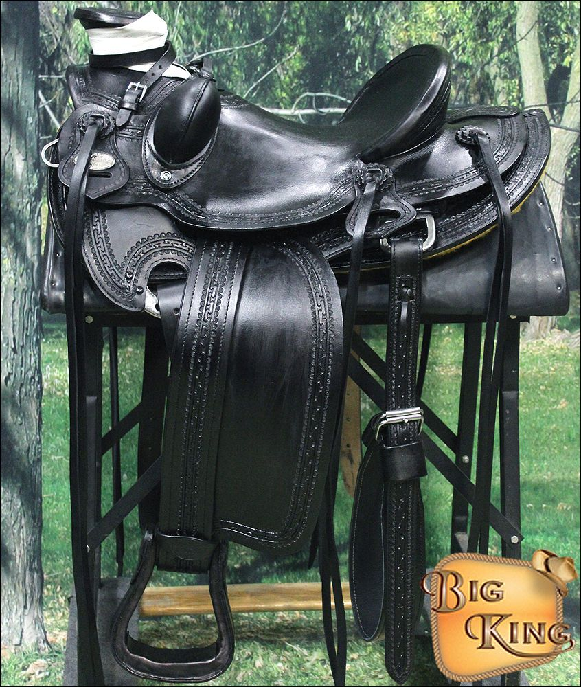 CWD060BK HILASON BIG KING WESTERN WADE RANCH ROPING COWBOY