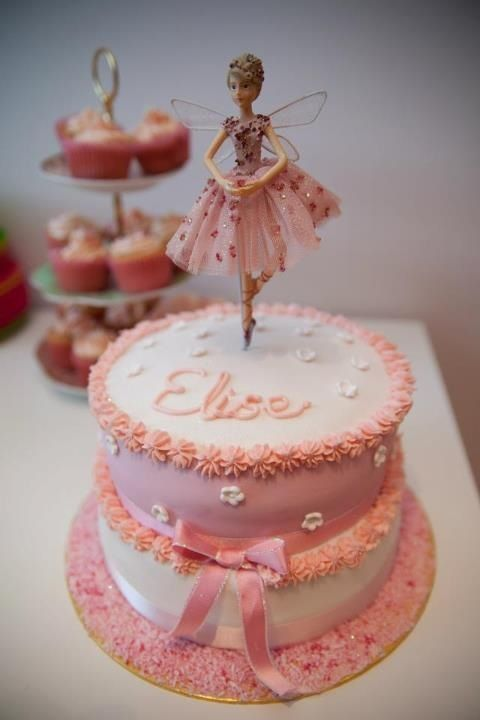 Two Tiered Ballerina Birthday Cake I Made For My Daughter S 6th
