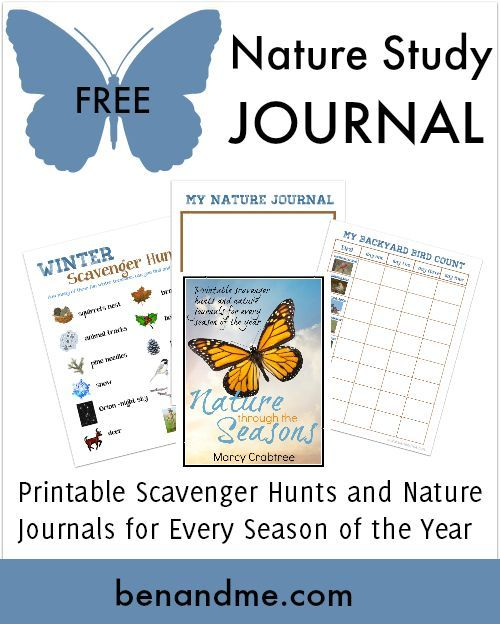 Free Nature Study Journal for all 4 seasons with Backyard Bird Count graph.