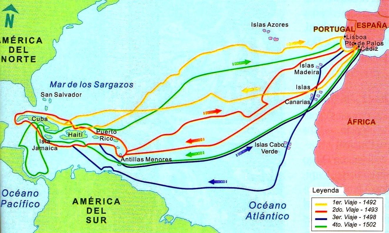 Resultado De Imagen Para Los Viajes De Cristobal Colon Viajes De