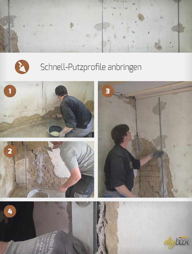 Schnellputzprofile anbringen Heimwerken Haus verputzen, Haus