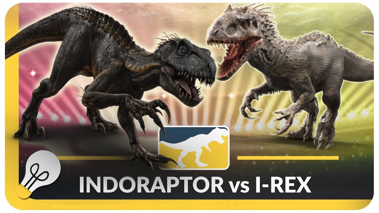 INDORAPTOR VS INDOMINUS REX Jurassic World Evolution