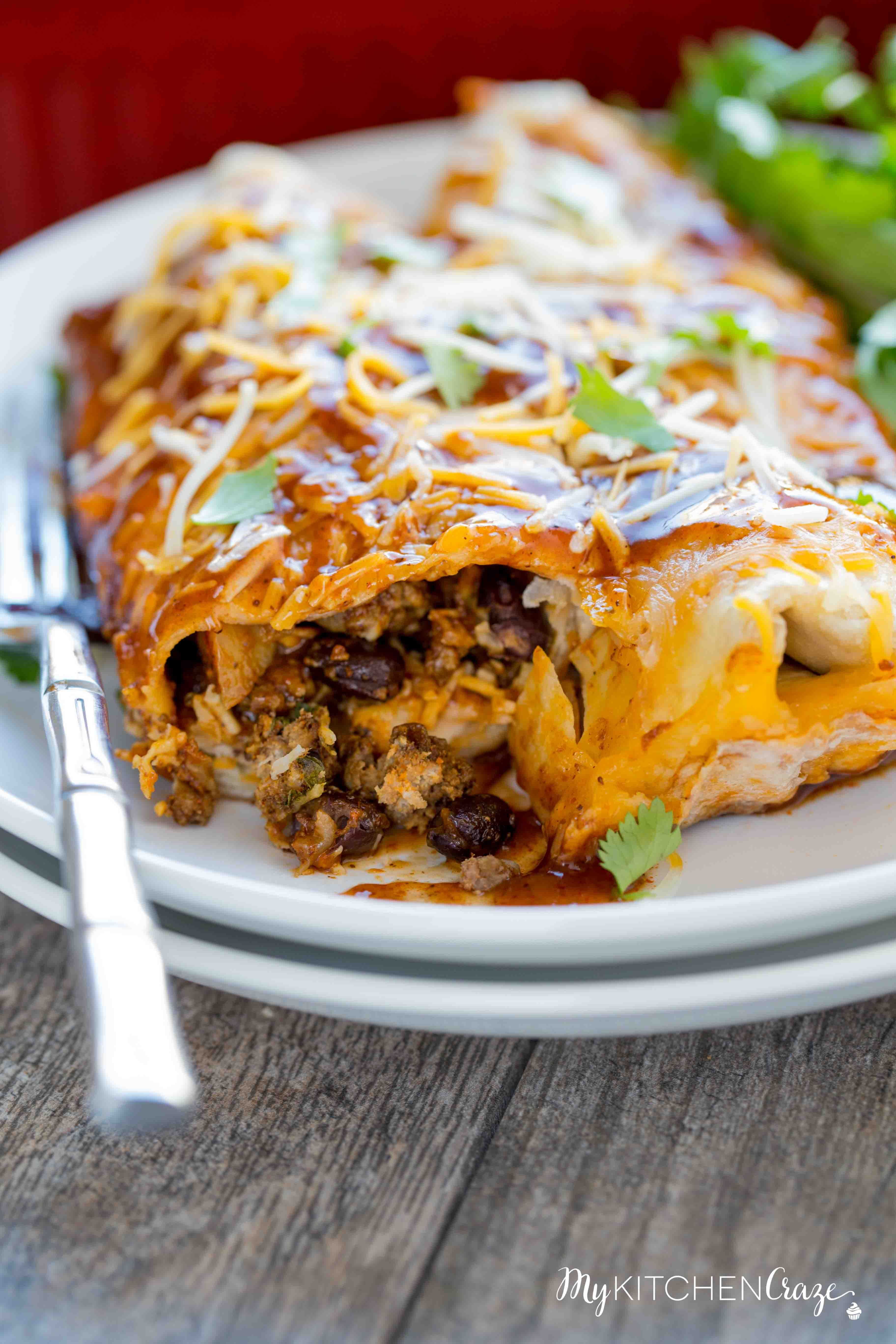 Beef And Potato Enchiladas My Kitchen Craze Red Meat Recipes Beef And Potatoes Ground Beef Recipes Easy