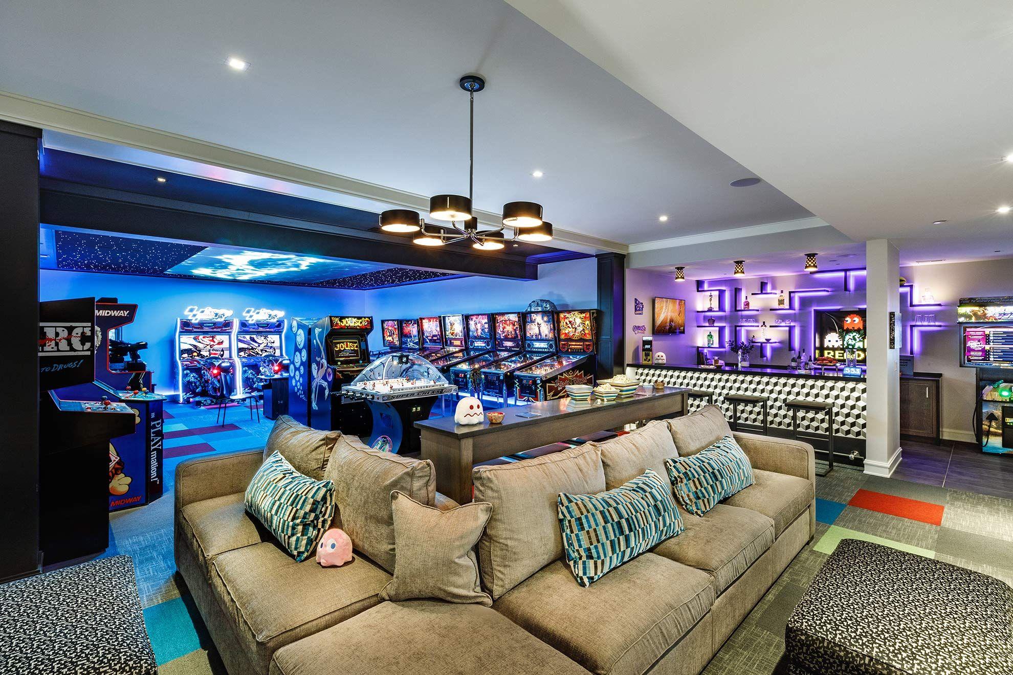Arcade Room W Bar Arcade Room Game Room Basement Arcade Game Room