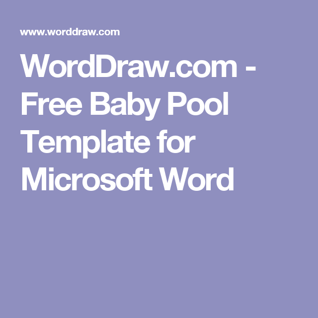 Worddraw Free Baby Pool Template For Microsoft Word Shower
