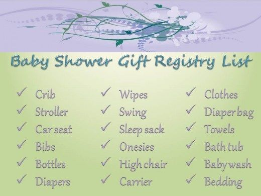 Gift Registry For Needed Baby Items  Baby Shower Ideas And Games