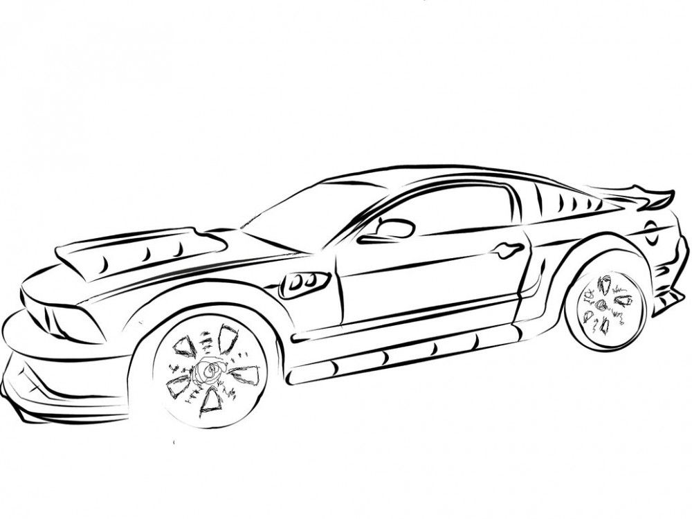 mustang car art Google Search Cars coloring pages
