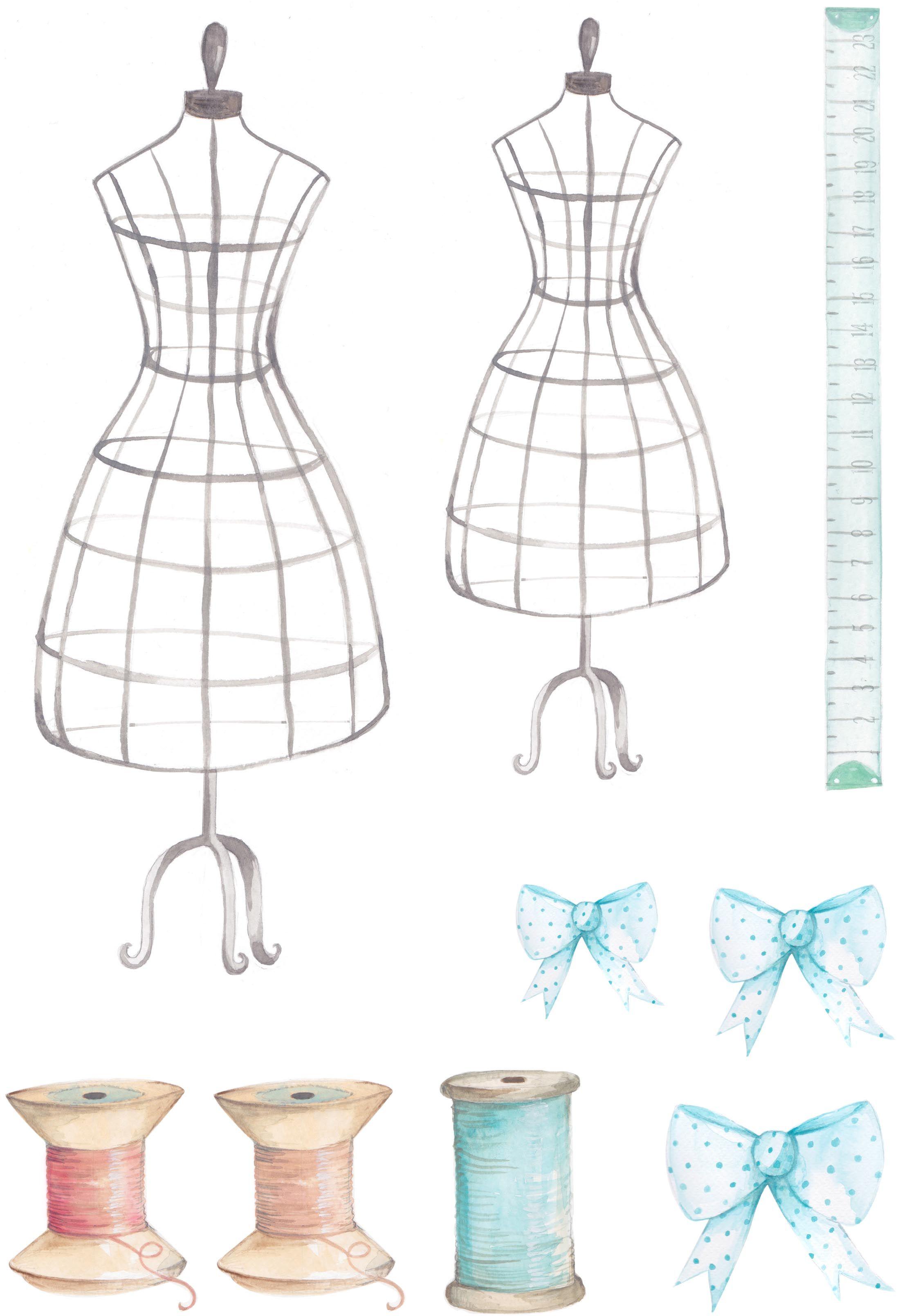 Vintage Sewing printables 155
