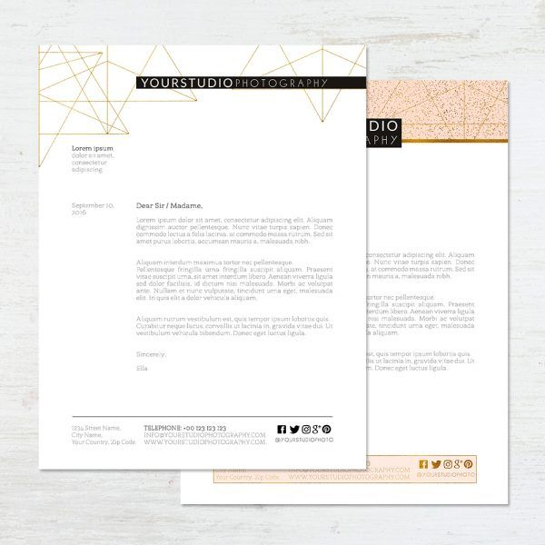 Letterhead Templates Archives  Sleeklens  Handmade Professional