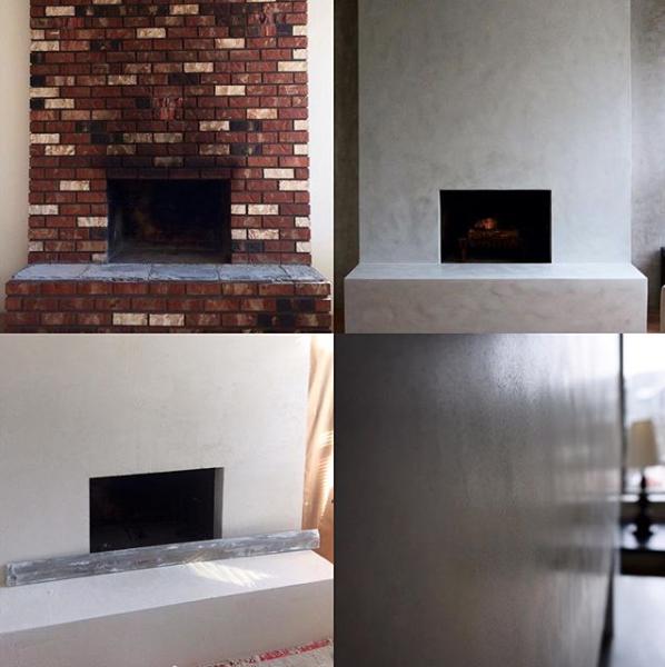 3 Coat Lime Plaster System Applied Over Fireplace Stucco Fireplace Brick Fireplace