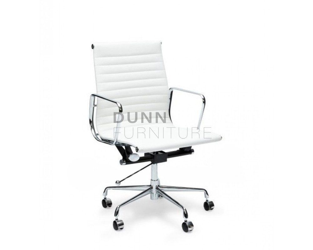 Management leather office chair eames replica white u dunn furniture