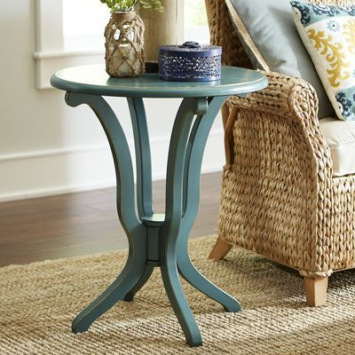 Best Daffodil Smoke Blue Accent Table Table Blue Accents 400 x 300