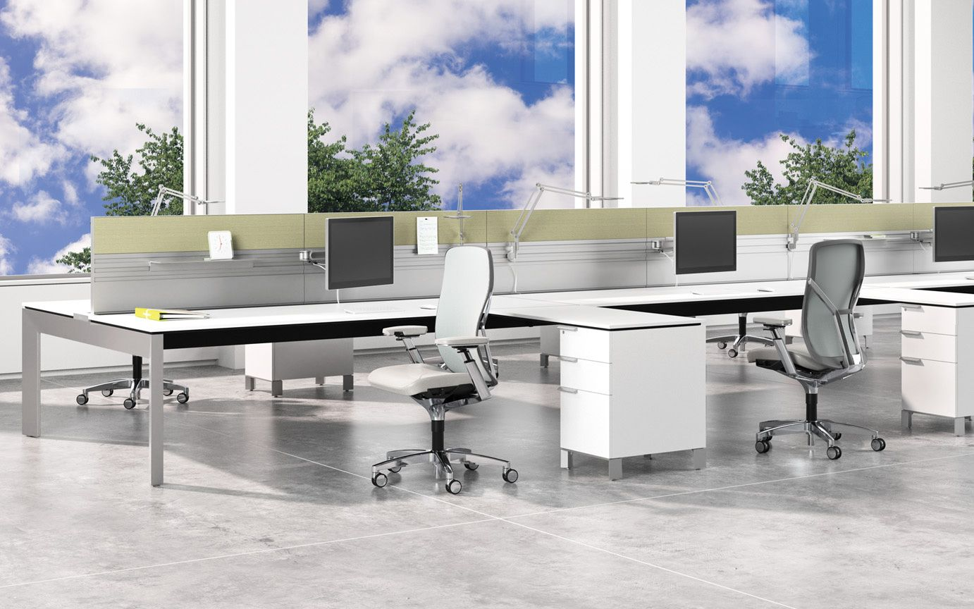 Allsteel Stride Bench Office Furniture With Images Furniture