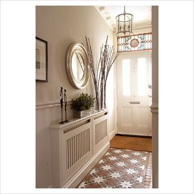 Radiator Covers Hallway Handy Shelf And A Stylish Mirror, Voila!