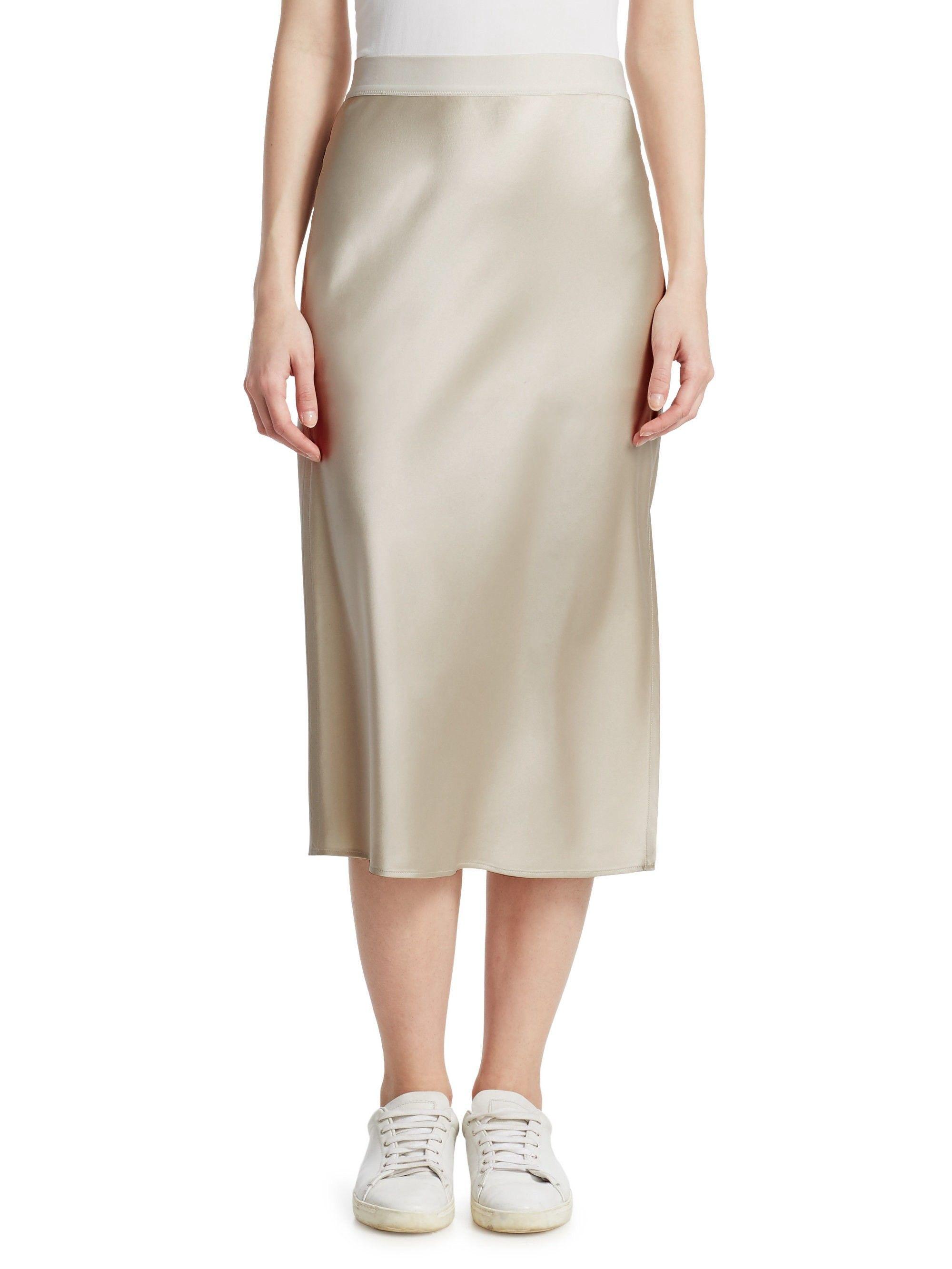 d0a3136b31c7 Silk Slip Skirt by Theory | Products | Slip skirts, Silk slip, High ...