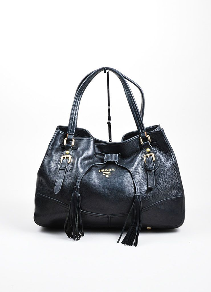 51f5effbd971 Black Leather Prada