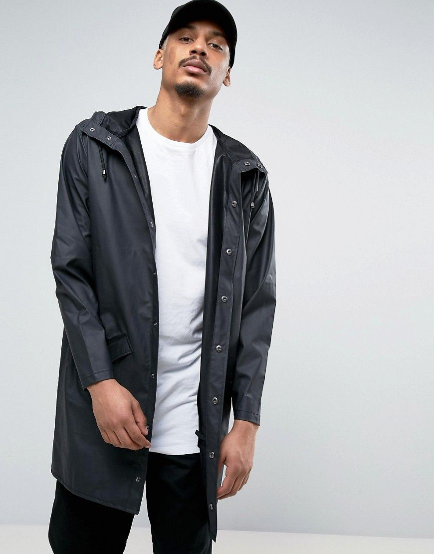 hoard as a rare commodity super cheap compares to sale uk RAINS LONG HOODED JACKET WATERPROOF IN BLACK - BLACK. #rains ...