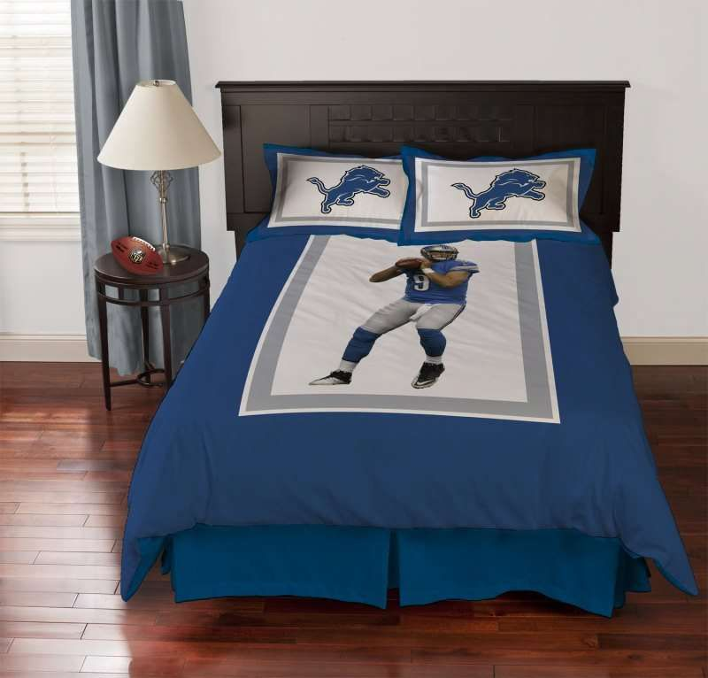 Detroit Lions Matthew Stafford Biggshots Comforter Set