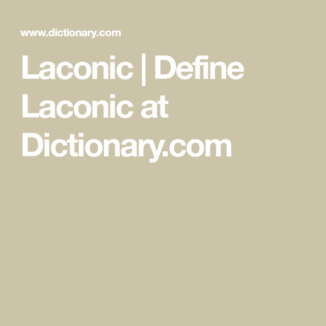 what does laconic mean in english