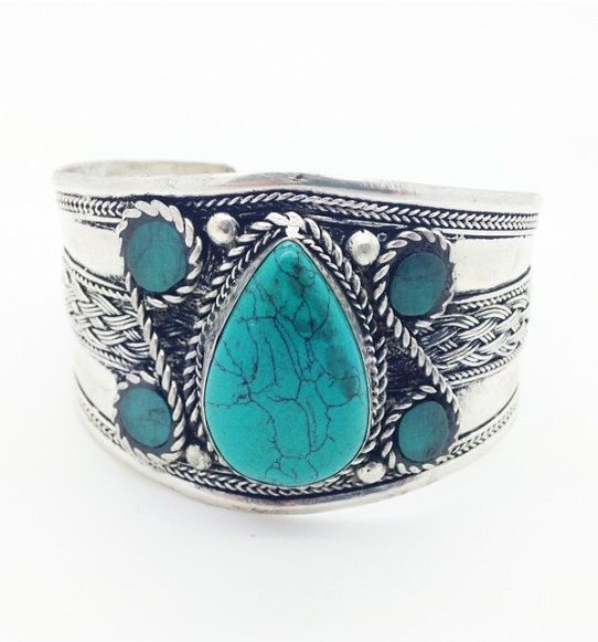 Gorgeous turquoise cuff by Shantique Designs.