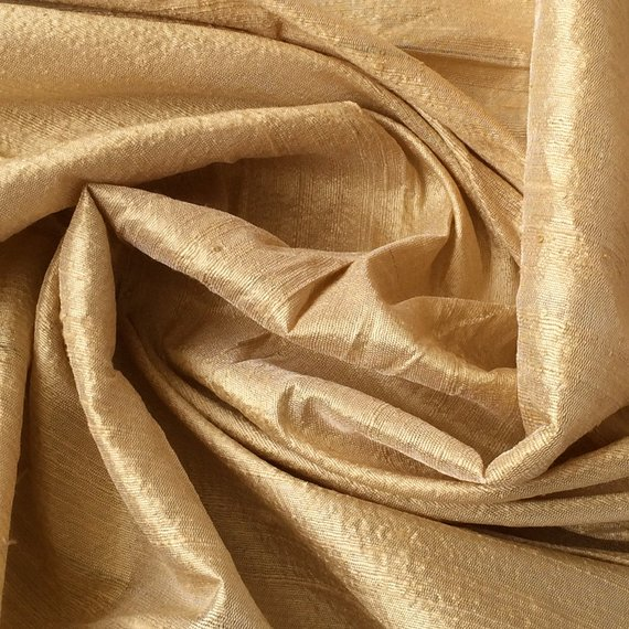 Champagne Dupioni 60 by the Yard Upholstery Fabric