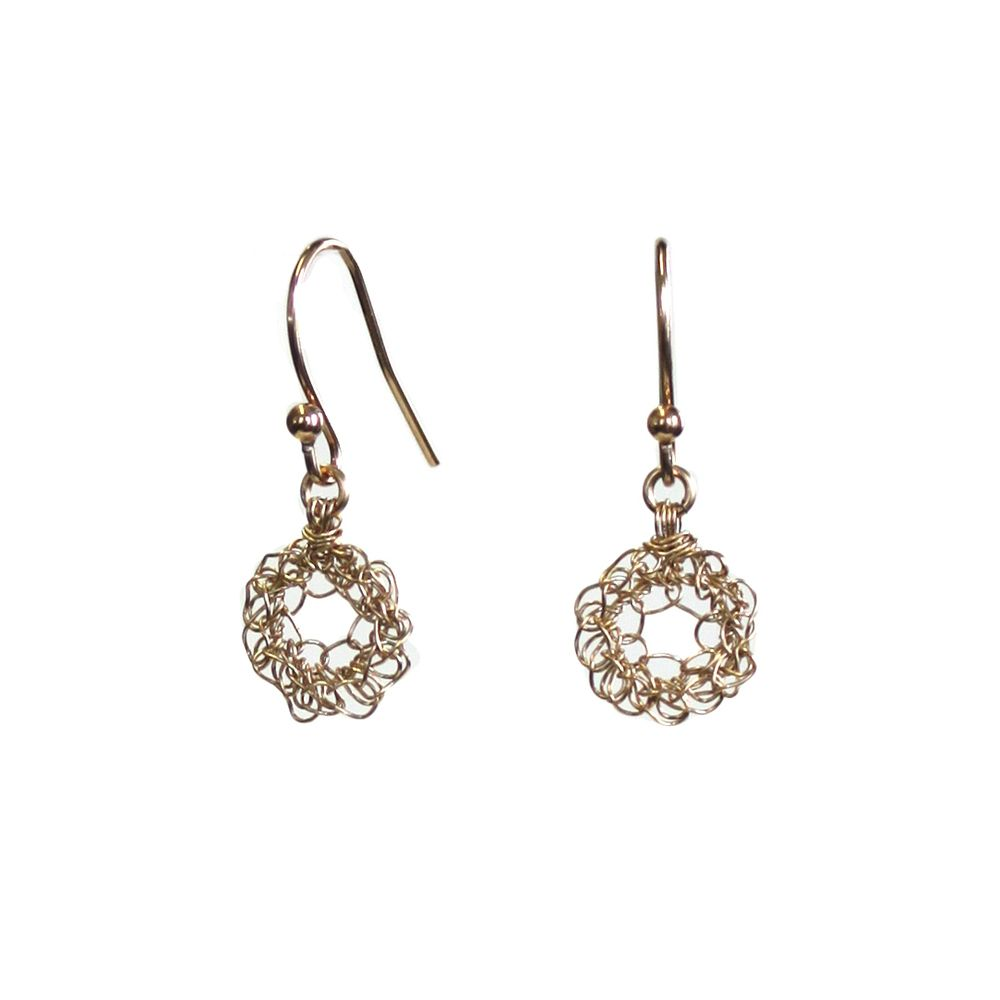 TINY GOLD FILLED LOOP EARRINGS Image of Tiny Gold Filled Loop ...