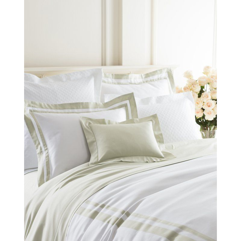 Piazza Duvet Cover by Luxe White/Pearl Blue - PIBDCQ
