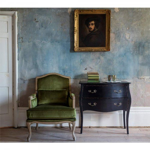 The French Bedroom Companyu0027s The Hathaway Moss Green Velvet Armchair Is  Formal But Also Cosy, And Is Upholstered In A Versatile Green Velvet Fabric  Which ...