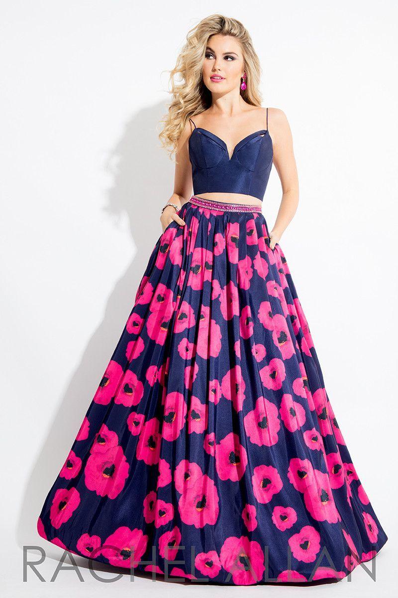 Rachel Allan 7620 Navy/Fuchsia Prom Dress   Vestiditos, Faldas ...