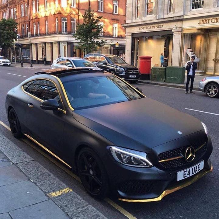 Matte Black And Gold Trim Mercedes Benz Not Sure Of The