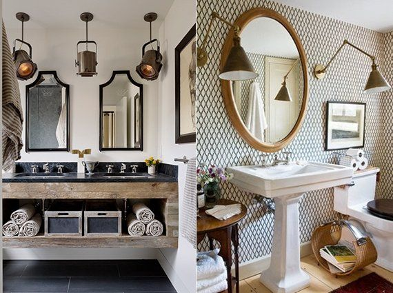 Modernes Badezimmer Design Im Vintage Stil_moderne Badezimmer Leuchten Als  Vintage Decken  Und Wandlampen