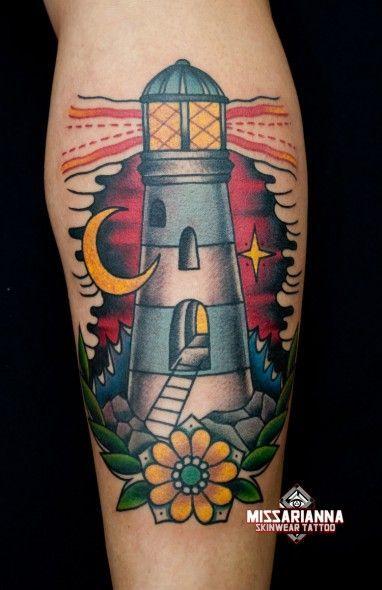 Image Result For Lighthouse Tattoo Tatuajes Tradicionales Tatuaje De Casa Tatuaje De Faro Tradicional