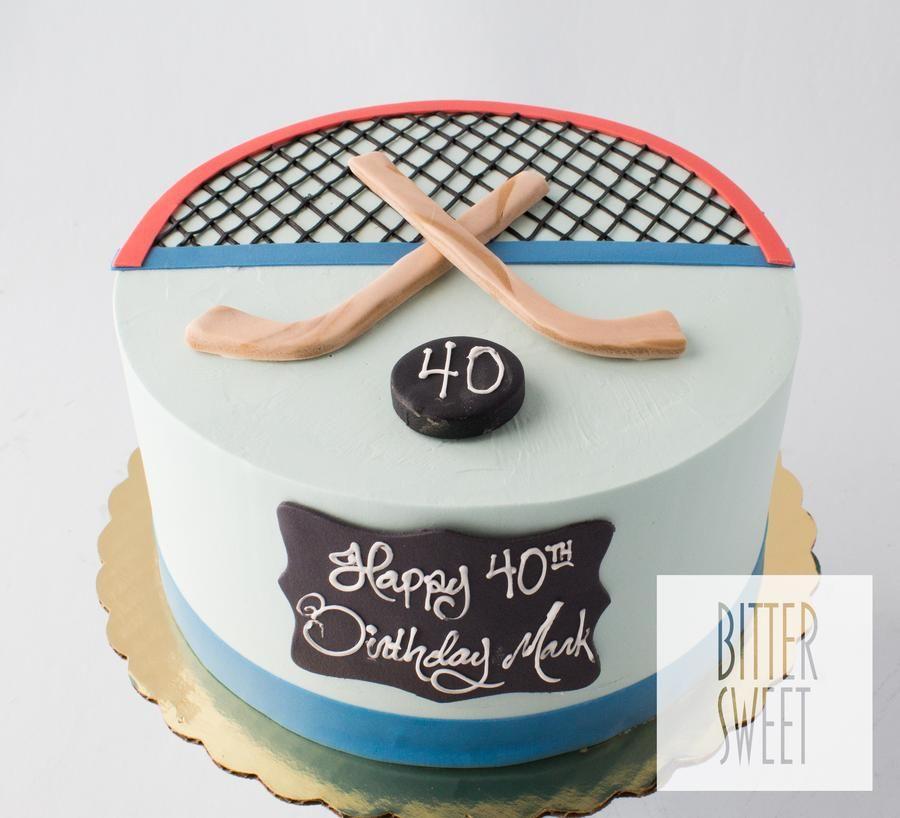 Strange Hockey Cake With Images Hockey Cakes Funny Birthday Cards Online Benoljebrpdamsfinfo