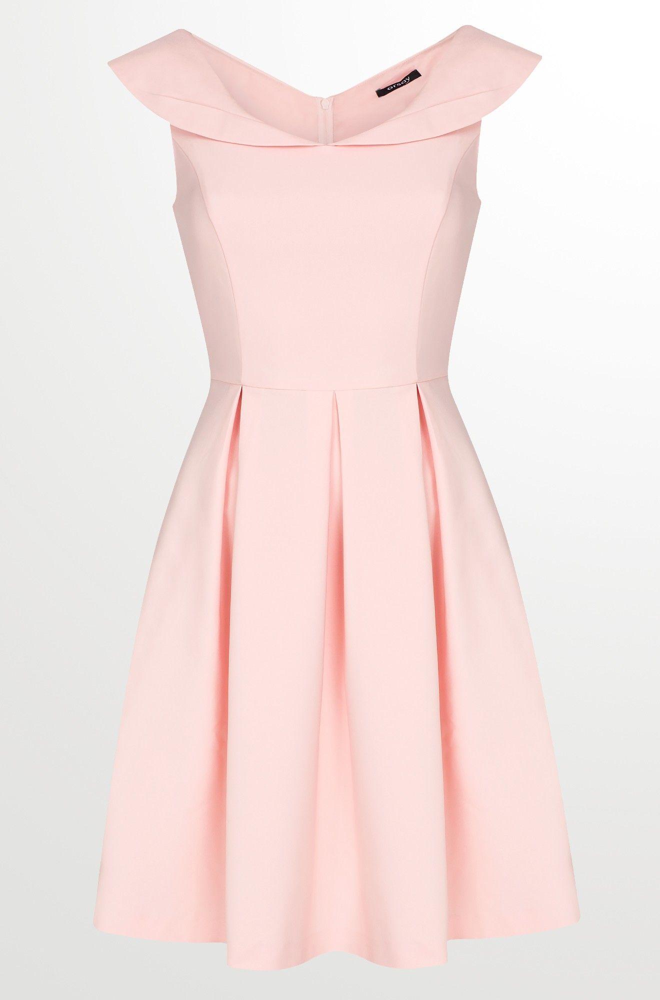 Kleid in Glockenschnitt mit Kragen  Schöne kleider, Vintage kleid