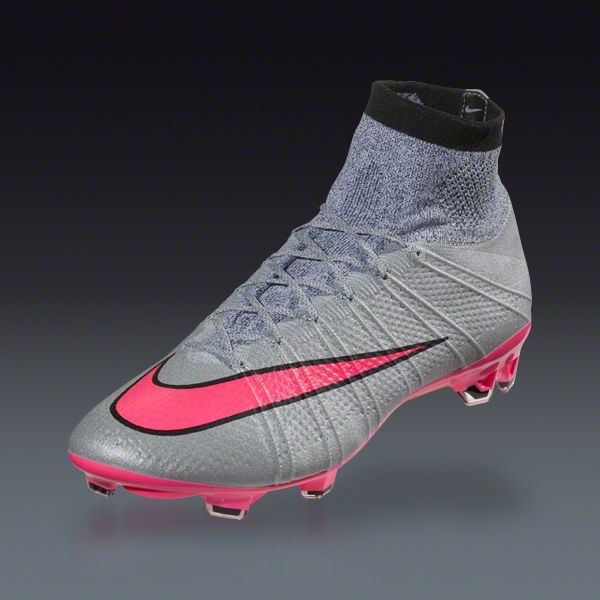 lowest price 0ba90 12b72 Nike Mercurial Superfly FG - Grey Hyper Pink Black Black - Silver Storm  Firm Ground Soccer Shoes   SOCCER.COM
