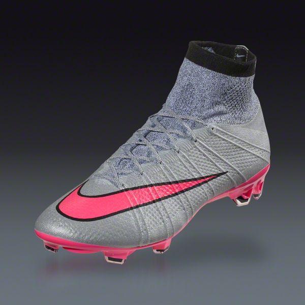 Nike Mercurial Superfly FG  Grey Hyper Pink Black Black  Silver