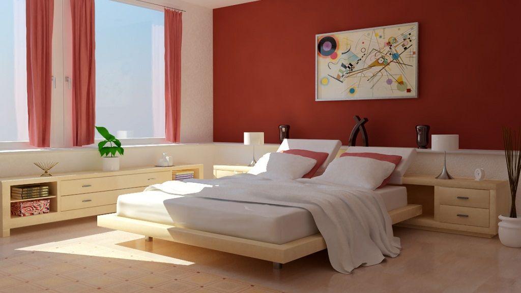 dormitorio paredes rojas