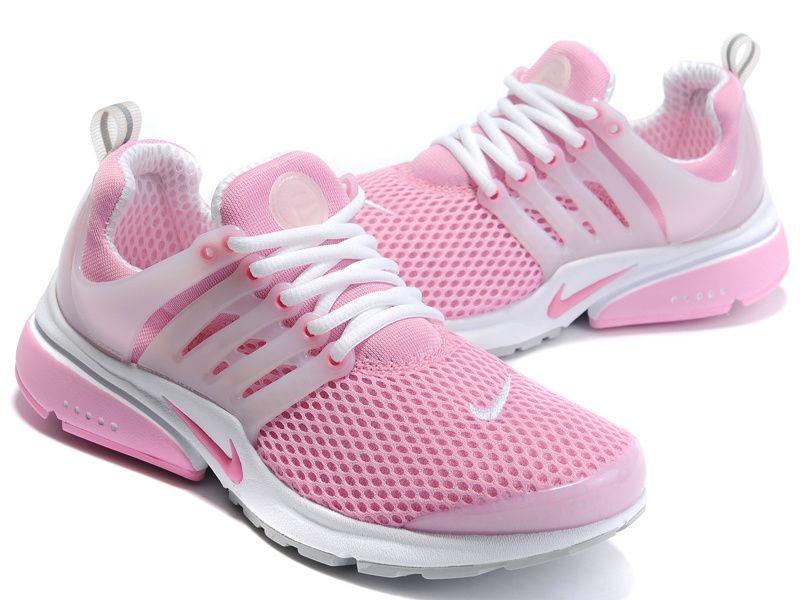 Women Nike Air Presto Pink White Shoes