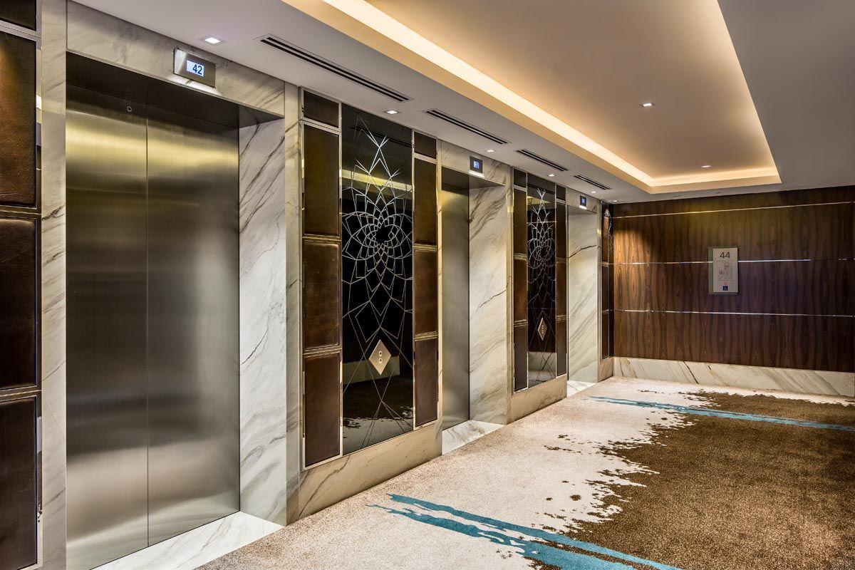 Westin Singapore - Guestroom Lift Lobby   Elevator lobby ...