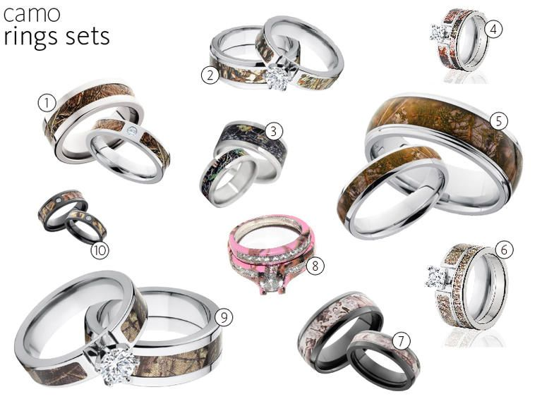 58 camo wedding rings and engagement rings - Camo Wedding Ring Set