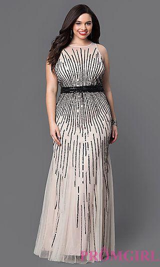 Long Beaded Plus Size Prom Dress by Faviana | plus size ...