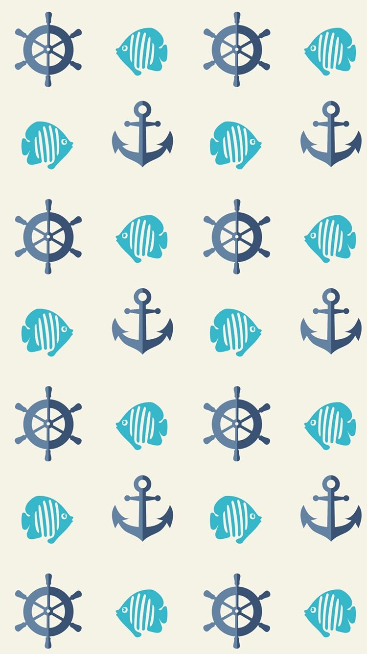 TAP AND GET FREE APP ⬆ Cute nautical wallpaper for iPhone 7