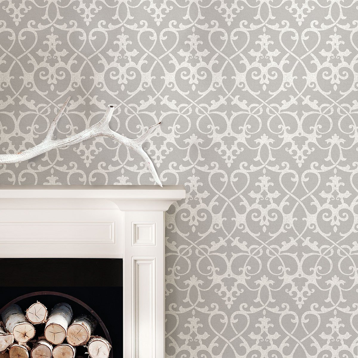 Ironwork Grey Peel And Stick Wallpaper Bathroom Wallpaper Trends Peel Stick Wallpaper Decor