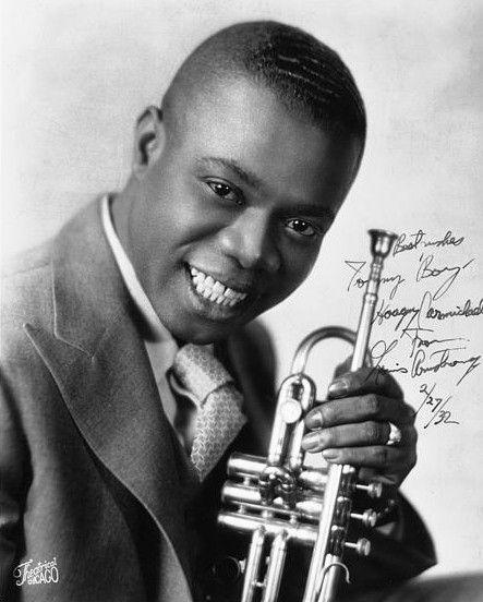 Louis Armstrong, 1932 | Jazz musicians, Louis armstrong, Jazz
