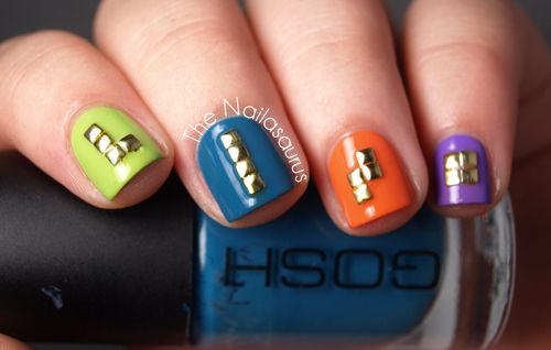 Tetris nails for the girly gamer geek!