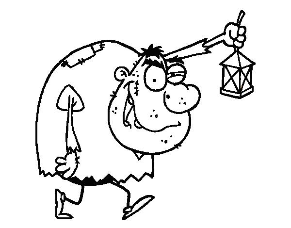 Dibujo de Monstruo jorobado para colorear | Dibujos de Halloween ...