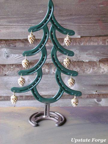 Horseshoe christmas tree our products pinterest for Horseshoe christmas art